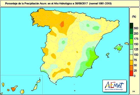 Mapa del año hidrológico